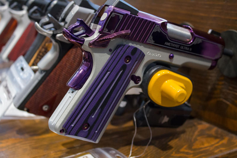 This handgun is one of many firearms for sale at Brownells in Grinnell.
