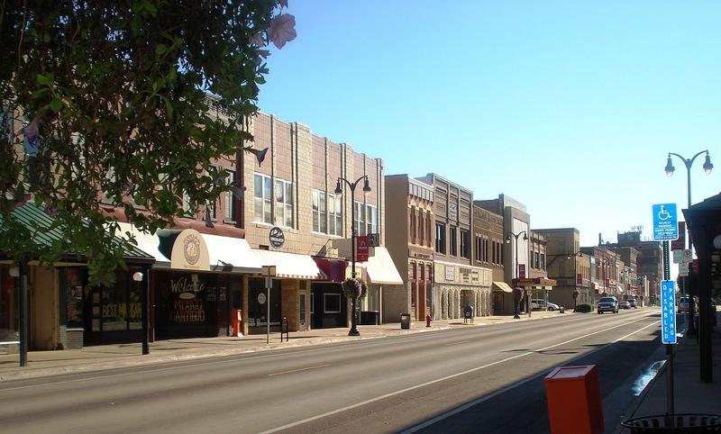Downtown Marshalltown, Iowa.