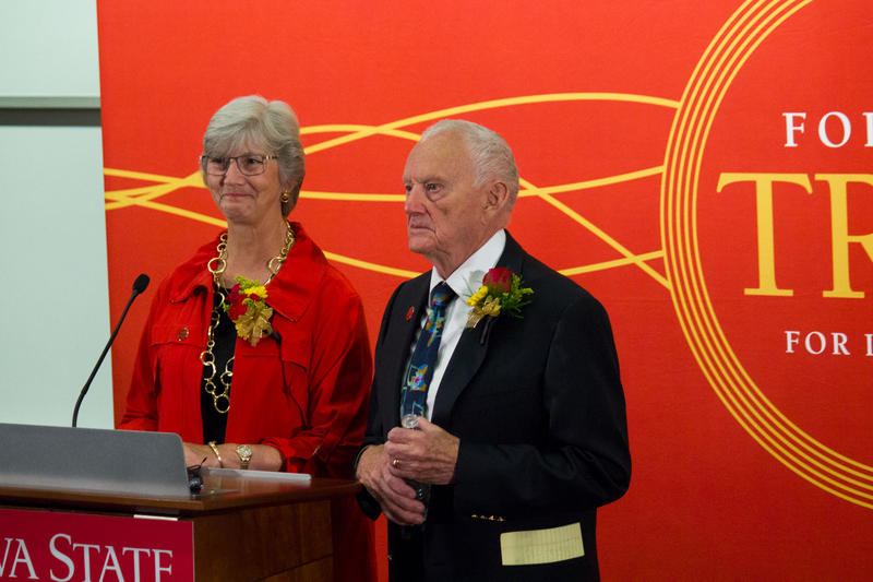 At Iowa State University on Monday, Debbie and Jerry Ivy announced they will donate $50 million to the College of Business.