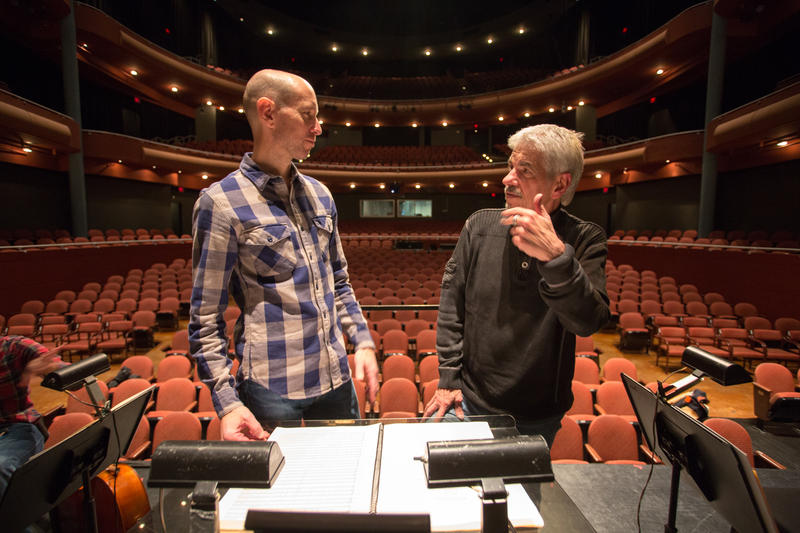 Gary Kelley works with wcfsymphony director Jason Weinberger