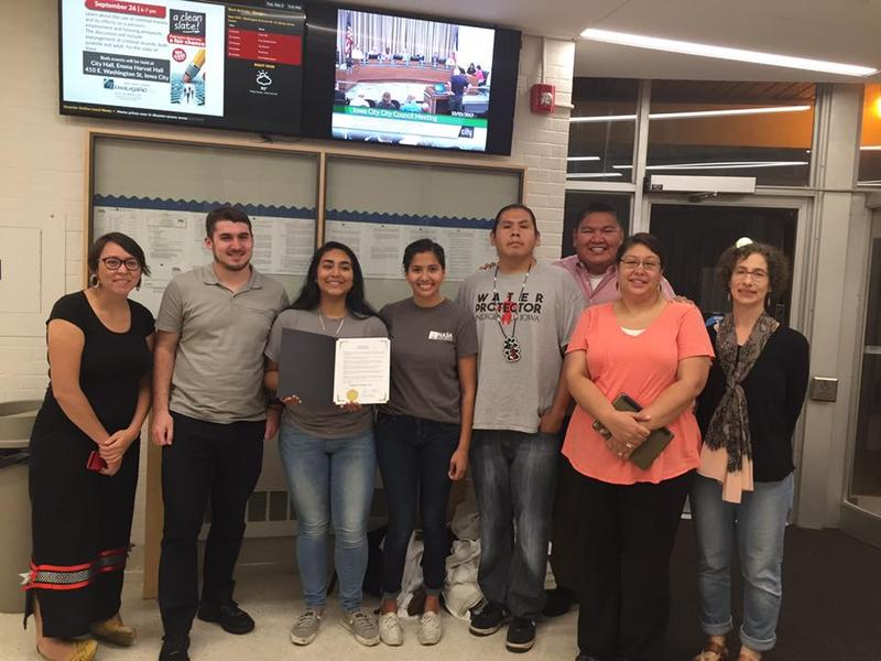 Iowa City proclaims Indigenous Peoples' Day