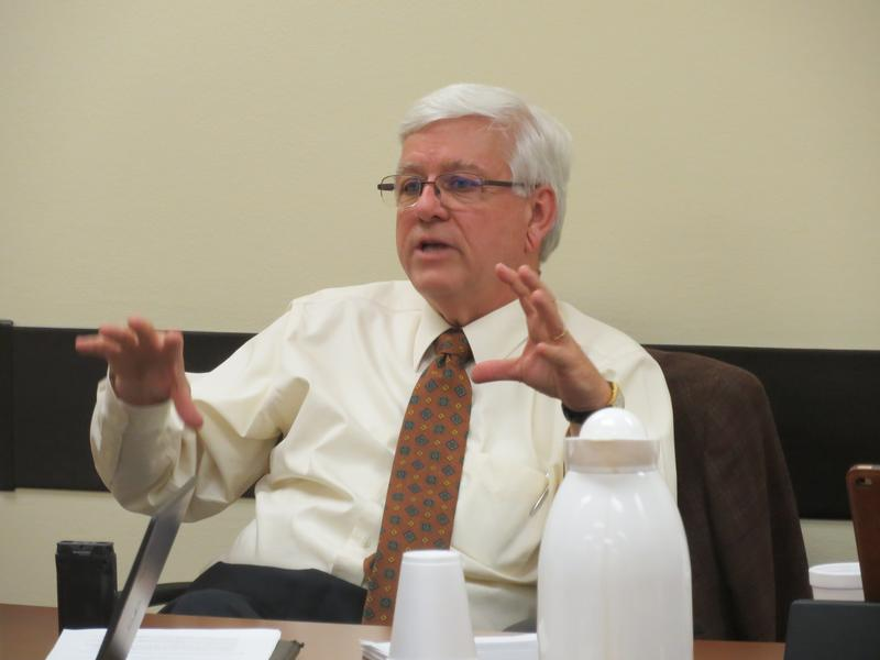 DHS director Jerry Foxhoven at the Council on Human Services.