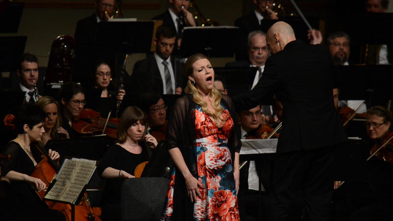 Soprano Erin Wall with the Quad City Symphony