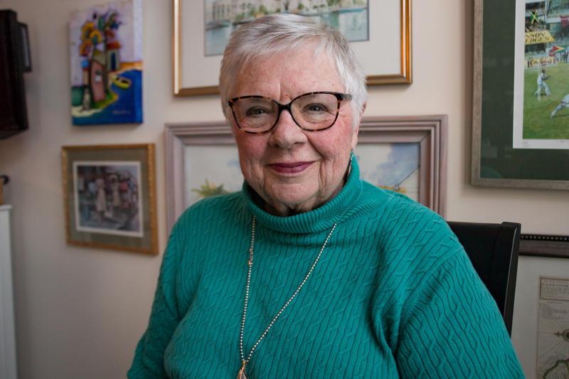 Former Iowa Senate President Mary Kramer in her Clive home.