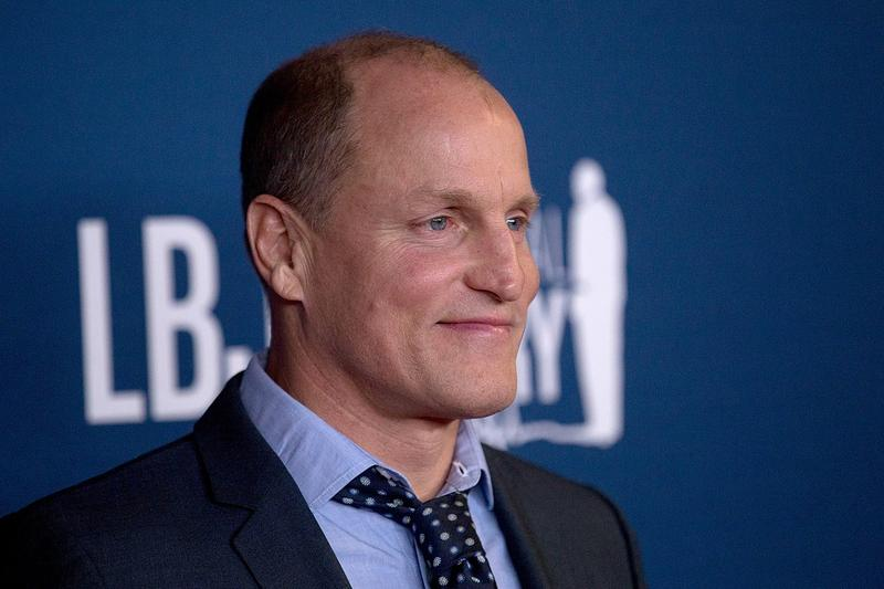 Actor Woody Harrelson at the LBJ Presidential Library in Austin, Texas.