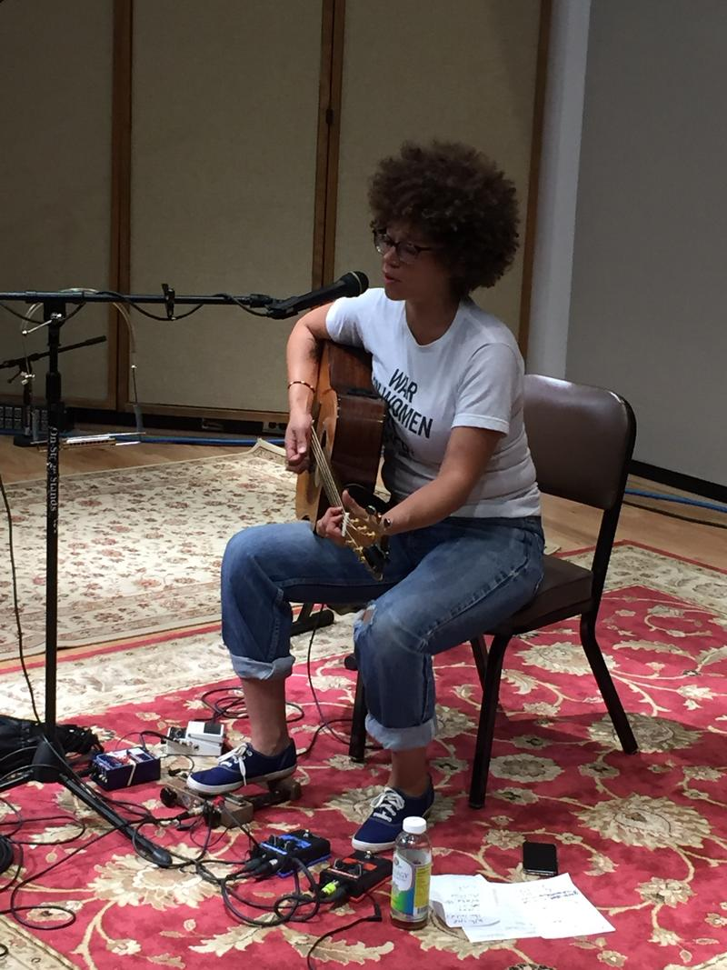 The Minneapolis artist Chastity Brown performs in Iowa Public Radio's Studio One