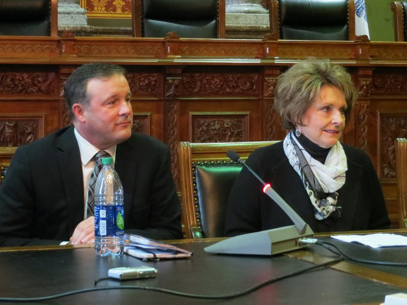 Senate Majority Leader Bill Dix (R-Shell Rock) and House Speaker Linda Upmeyer (R-Clear Lake)