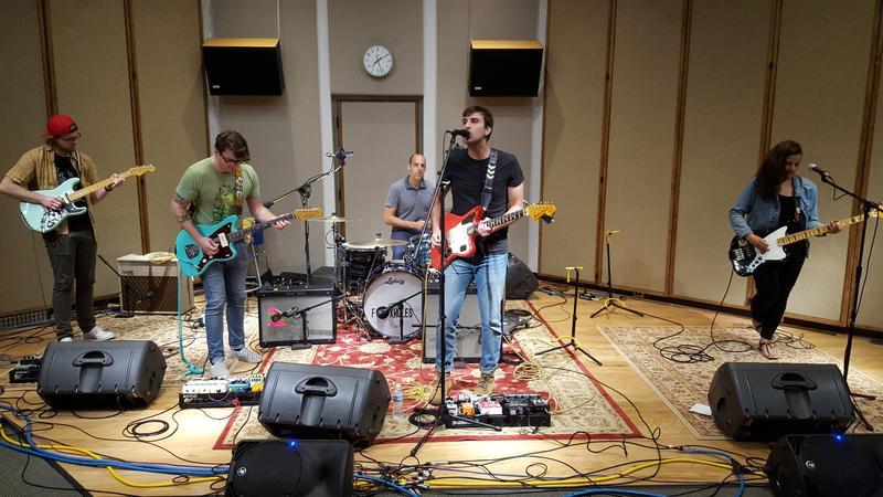 Foxholes performing in IPR's Cedar Falls studios.