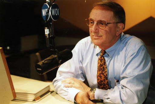 Don Forsling in the WOI Studios in Ames.