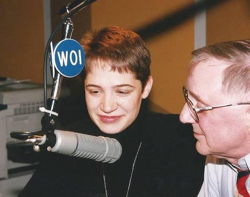 Current Talk of Iowa host Charity Nebbe and Don Forsling in studio in Ames.