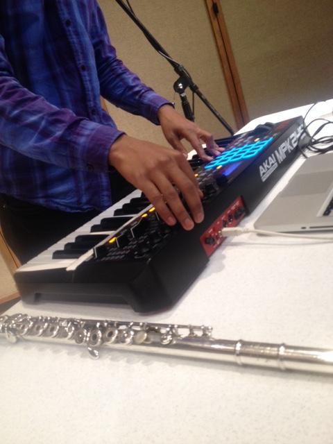 UNI flute alum Azeem Ward works with his keyboard