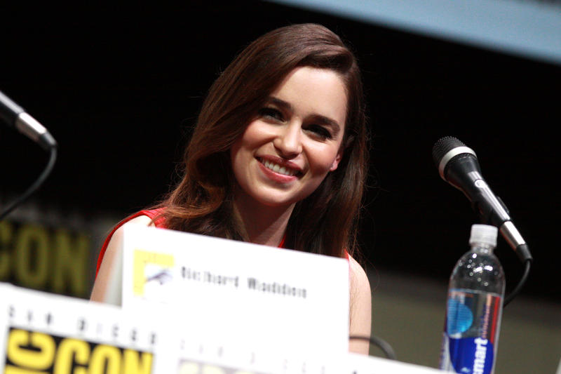 Emilia Clarke speaks both Dothraki and Valyrian as Daenerys Targaryen in HBO's Game of Thrones.