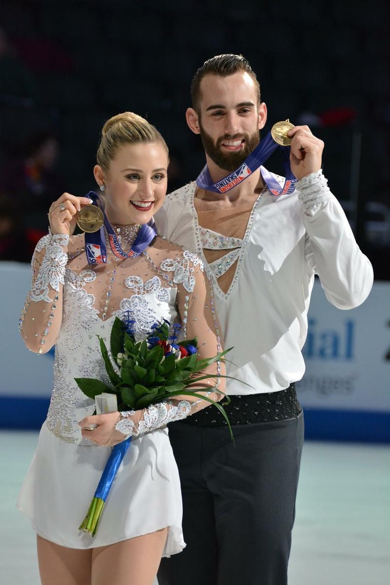 Ashley Cain and Timothy LeDuc