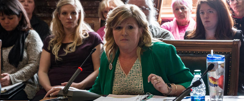 Representative Shannon Lundgren supports a bill in the human resources committee restricting abortion after six weeks.