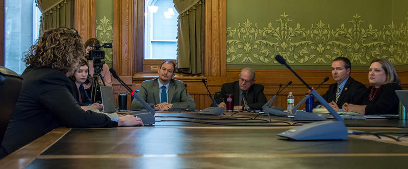 Senator Mark Chelgren chairs an appropriations subcommittee for a bill that would give parents money to help pay for their child to attend a nonpublic school.