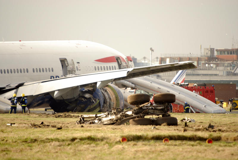 British Airways Flight 38, which crashed just short of the runway at its destination in 2008