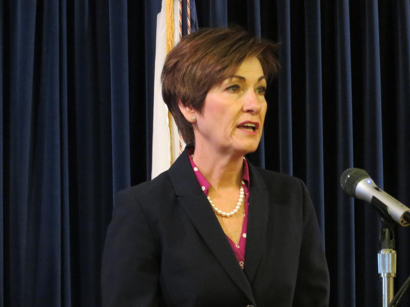 Iowa Gov. Kim Reynolds at her weekly news conference 03/26/2018
