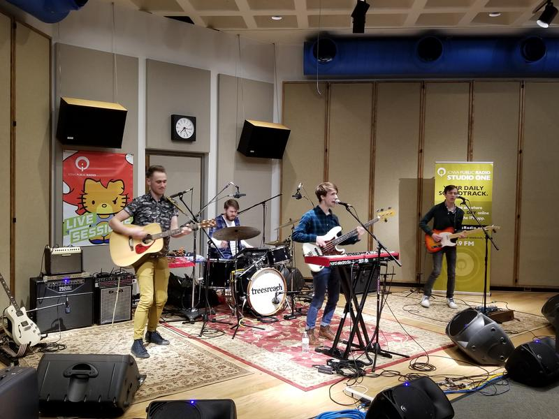 treesreach performing in our Cedar Falls Studio