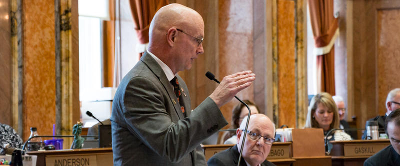 """Rep. Steven Holt is the floor manager of SF481, a bill that would in part deny state funding to cities declared as """"sanctuary cities."""""""