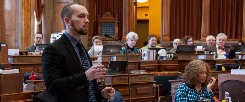 Various religious organizations oppose SF 481, but Rep. Skyler Wheeler challenges them and says the role of the government as defined in the Bible is to punish evil and reward good. He says the bill is consistent with a Romans 13.