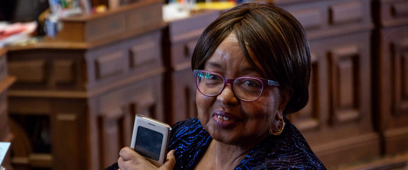 """Rep. Ruth Ann Gaines is deeply opposed to SF 481, but knows the majority party will pass it. She says she forgive them as they do by invoking the religious phrase """"Forgive them Father, for they know not what they do."""""""