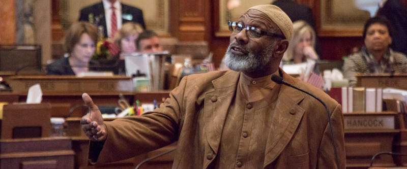 During a point of personal privilege, Representative Ako Abdul-Samad harshly criticizes use of crime statistics about illegal immigrants used earlier in the day as a bill was debated about the enforcement of immigration laws.