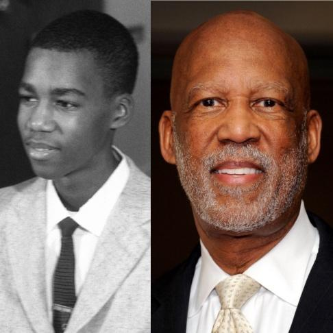 Terrence Roberts in 1957 and 2012
