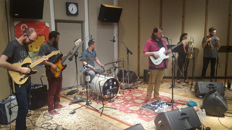 Dana T and his band performing live on IPR's Studio One Tracks.