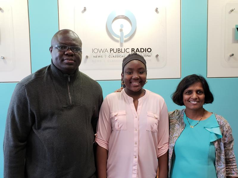 From left: Azeez Butali, Amirah Butali, and Dr. Anjali Sharathkumar
