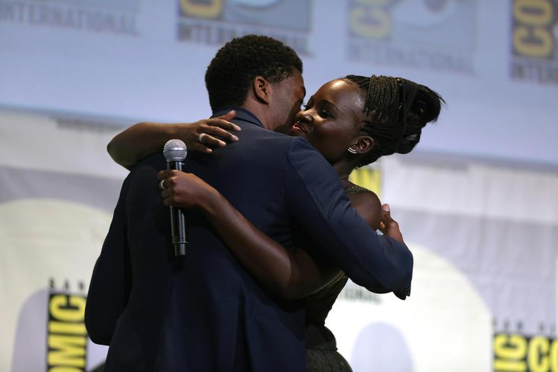 Black Panther stars, Chadwick Boseman & Lupita Nyong'o