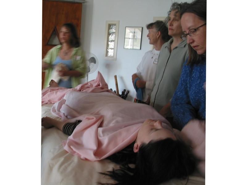 At this home funeral training workshop, participants learn to prepare the body for a home vigil.