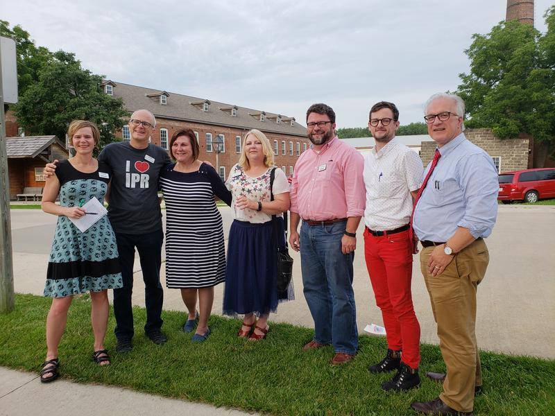 The Pints and Politics crew (from left): Erin Jordan, Ben Kieffer, Dianne Bystrom, Lynda Waddington, Todd Dorman, Andrew Sullivan, and James Lynch