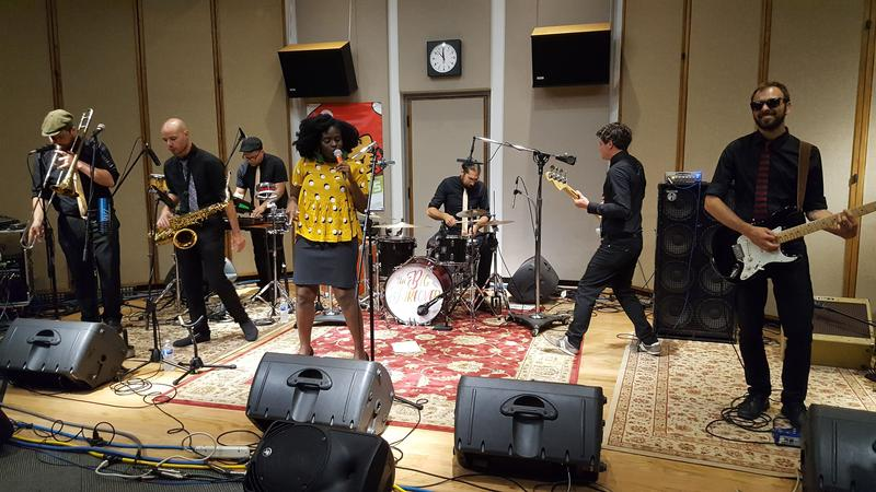 The New York band The Big Takeover performing in IPR's Studio One.