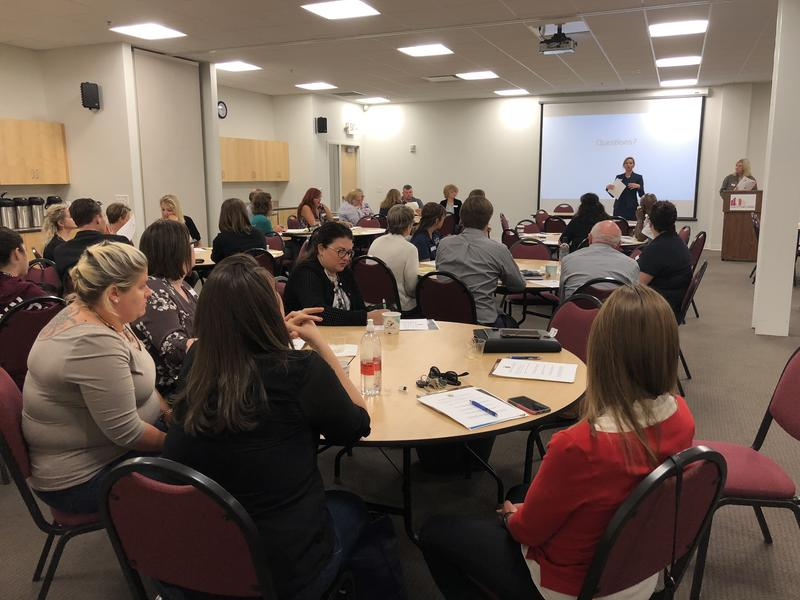 Northwestern Iowa community groups discuss the problem of sexual harassment in housing on Friday at the Sioux City Public Museum.