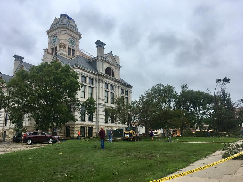 marshall county courthouse damage
