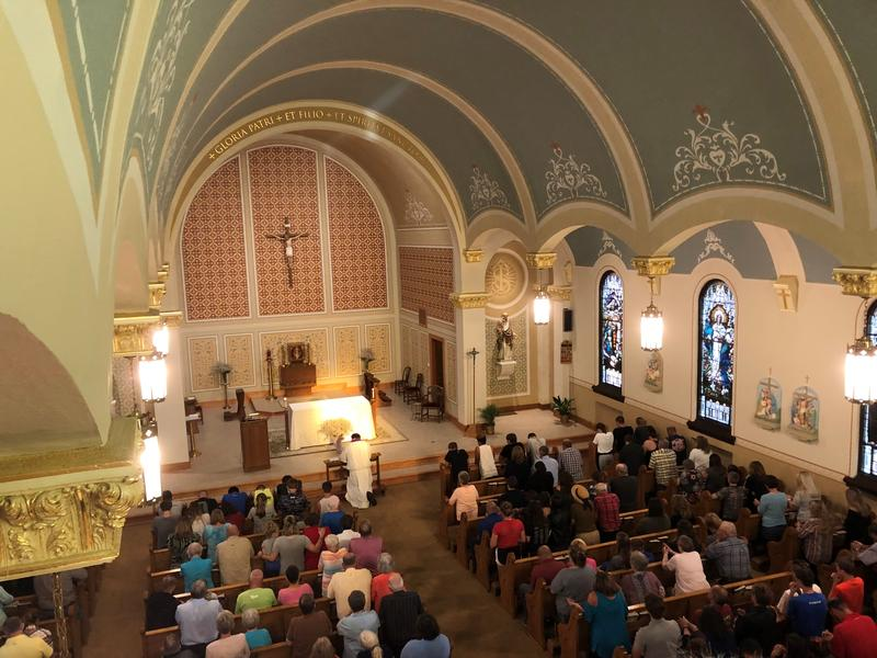 Dozens of mourners filled St. Patrick Church in Mollie Tibbetts' hometown of Brooklyn, Iowa to mourn her death.