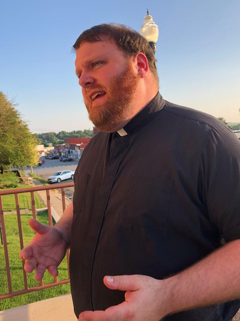 Fr. Corey Close is the priest at St. Patrick Church, where Mollie Tibbetts worshipped. He's urging his congregation to forgive her killer.