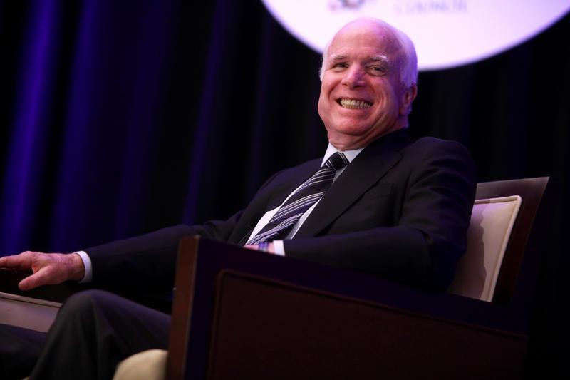 Senator John McCain speaking at the Arizona Chamber of Commerce & Industry's Annual Legislative Luncheon in Phoenix, Arizona.