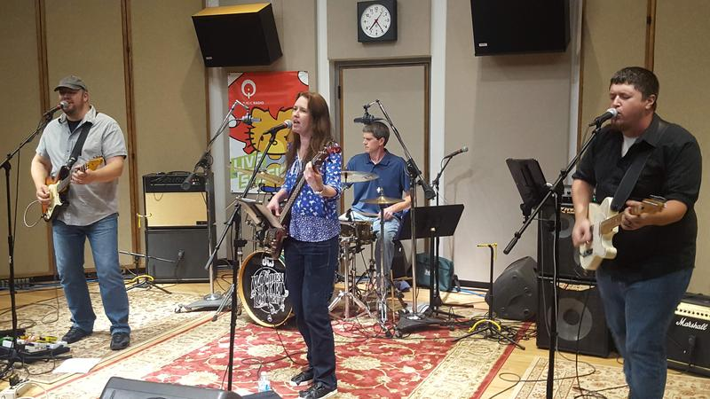 The eastern Iowa band Wooden Nickel Lottery performing in IPR's Studio One.