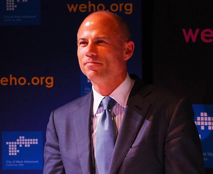 Attorney Michael Avenatti at a West Hollywood panel discussion about the state of American politics, President Donald Trump.
