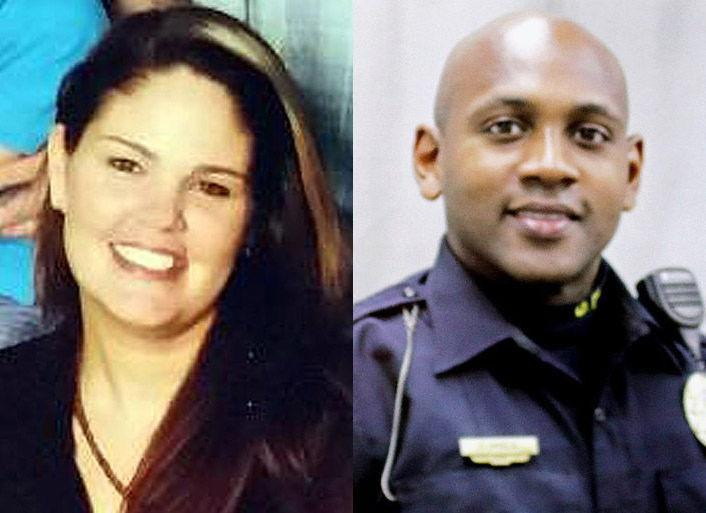 Shooting victim Autumn Steele (L); Burlington Police Officer Jesse Hill