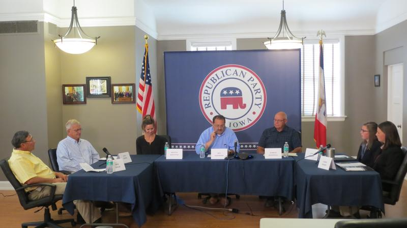 Farmers Roundtable at Republican Party of Iowa Headquarters in Des Moines
