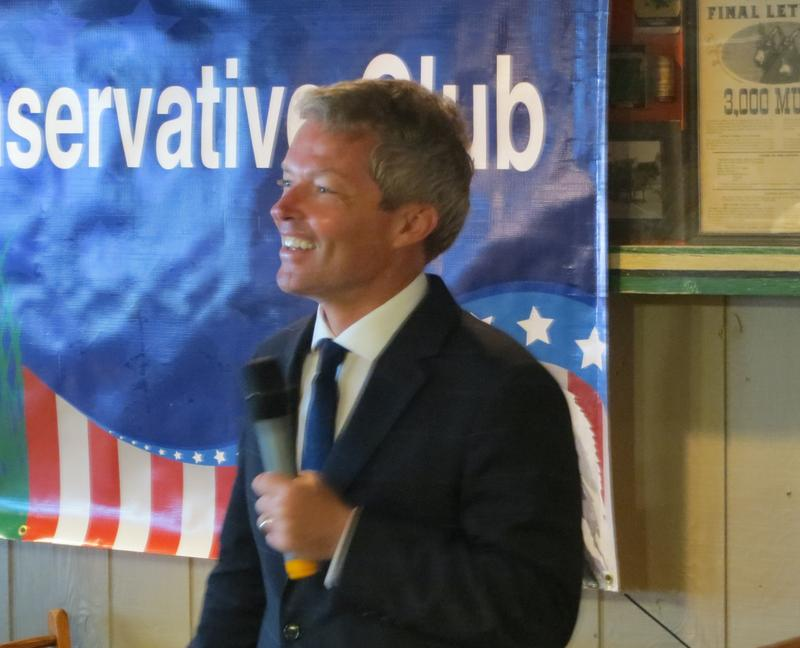 Eric Branstad spoke at the Westside Conservative Club.