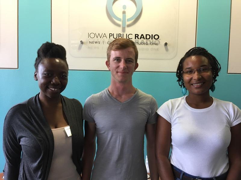 From Left to right: Joyleen Kafuka, Charles Faul, Luana Pereira