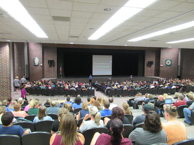 Staff in the Sioux City Community School District received training on how to handle a crisis like an active shooter.