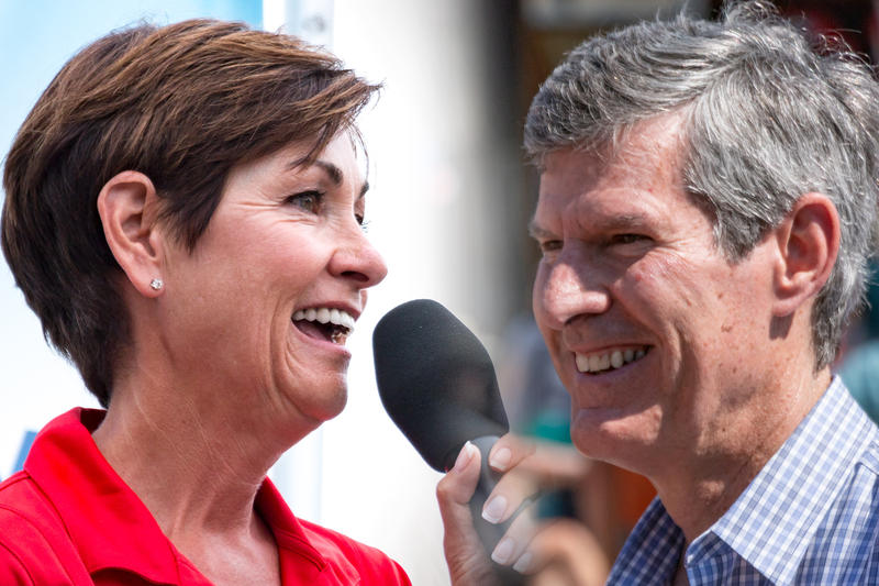 Republican Governor Kim Reynolds and Democratic challenger Fred Hubbell.