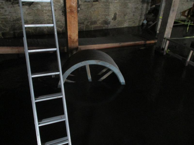 In the basement of the Wapsipinicon Mill on the banks of the river in downtown Independence, floodwaters were knee-deep.