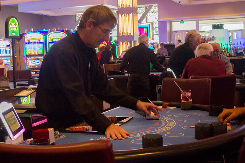 Free Bet Blackjack is a popular new version of the classic game at Wild Rose Casino in Jefferson, where Dave Rubner is a dealer.