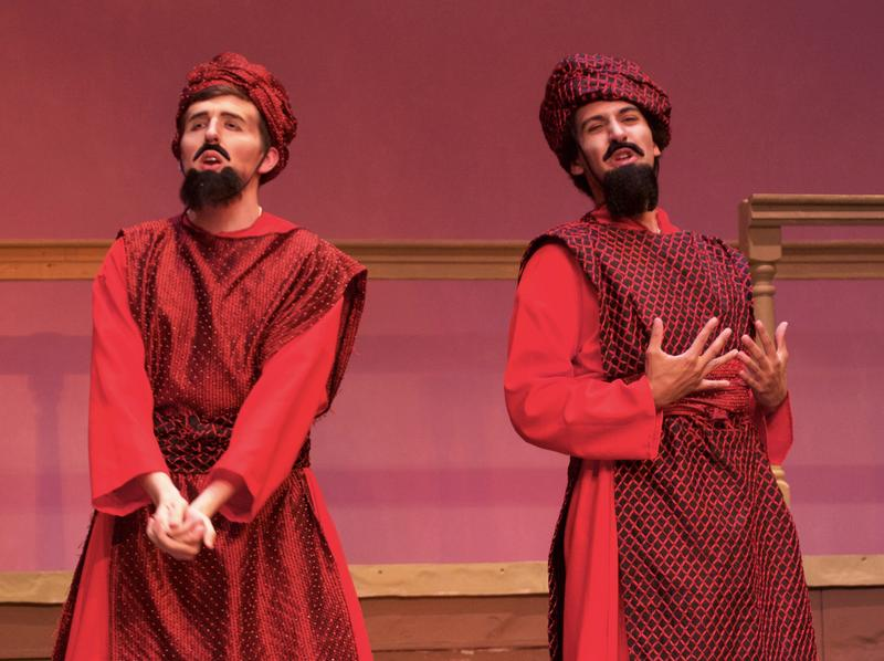 (Left to right) Mason Montuoro as Ferrando; Isaiah Cammon as Guglielmo