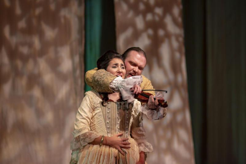 Rayna Morano as Eurydice and Ian Butler as Orpheus